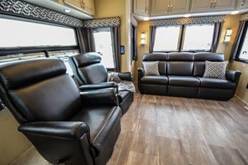 luxury fifth wheel couch