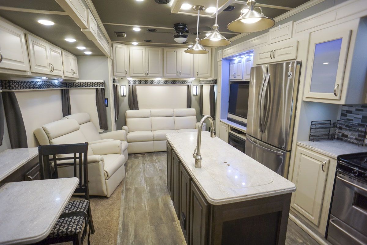luxury fifth wheel living room